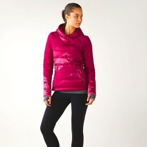 Lululemon Down Right Cozy Pullover Berry Rumble. 4
